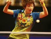 图文:德国乒乓球赛女单决赛 丁宁比赛中回球
