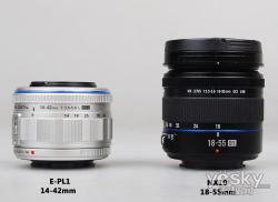 APS-CNX10 VS微4/3 E-PL1外观对比