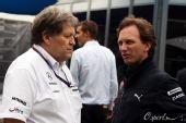 图文:F1澳大利亚站排位赛 豪格与霍纳