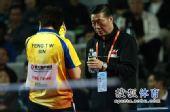 图文:丁宁4-3冯天薇晋级决赛 周树森指点迷津