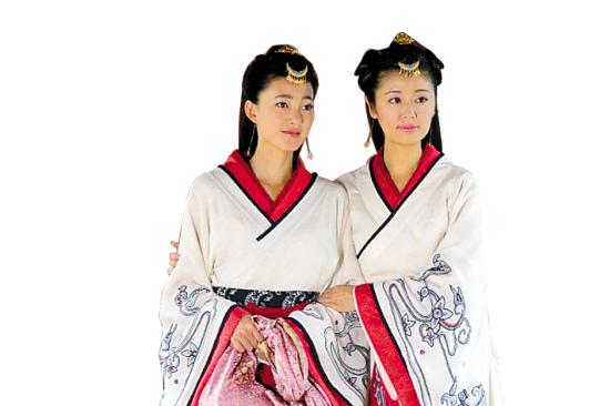 《美人心计》中窦漪房(右)和王�偷慕巧�设置,被指很像《宫心计》里的刘三好和姚金铃