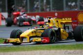 图文:F1澳大利亚站正赛 库比卡在弯道中