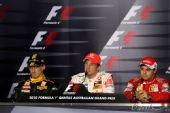 图文:F1澳大利亚站正赛 赛后发布会现场
