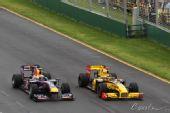图文:F1澳大利亚站正赛 韦伯追赶库比卡