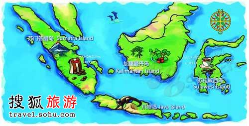 印度尼西亚咖啡地图