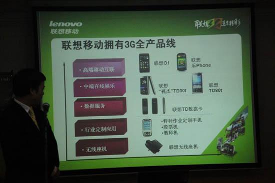 联想移动3G全产品线