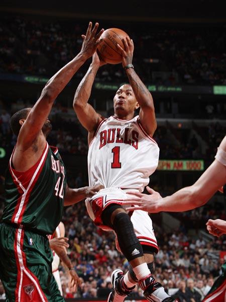 罗斯/图文:[NBA]雄鹿胜公牛罗斯进攻