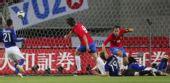 组图:热身日本0-3塞尔维亚 中村俊辅无力救主