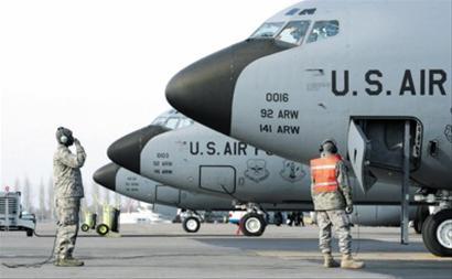 □美国在吉尔吉斯斯坦城市马纳斯设有空军基地
