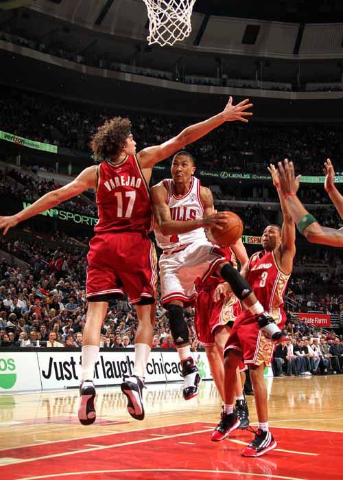 罗斯/图文:[NBA]骑士VS公牛罗斯孤军深入