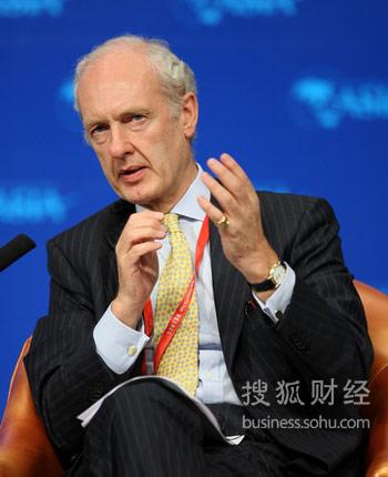 富达国际总裁安东尼・波顿(来源:搜狐财经 唐怡民 摄)