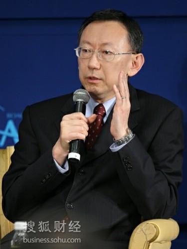 中华经济研究院院长萧代基(来源:搜狐财经 唐怡民 摄)