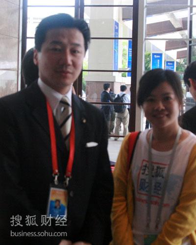 搜狐财经专访日本外务副大臣福山哲郎