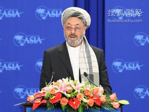 阿富汗副总统哈利利(来源:搜狐财经 唐怡民/摄)