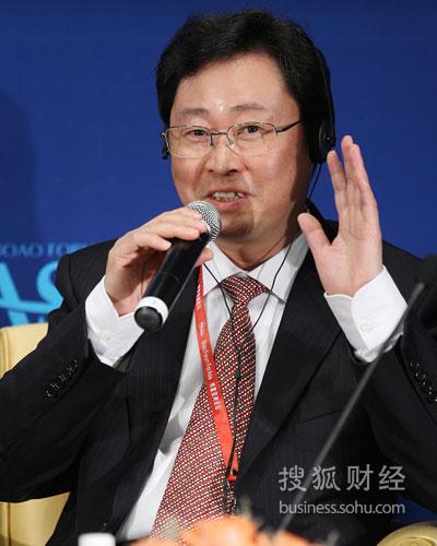 中国铝业公司总经理熊维平(图片来源:搜狐财经 唐怡民/摄)