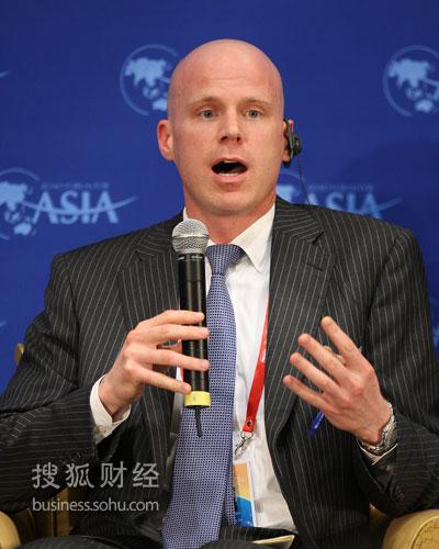 美前进出口银行董事长兼总裁James Lambright (图片来源:搜狐财经 唐怡民/摄)