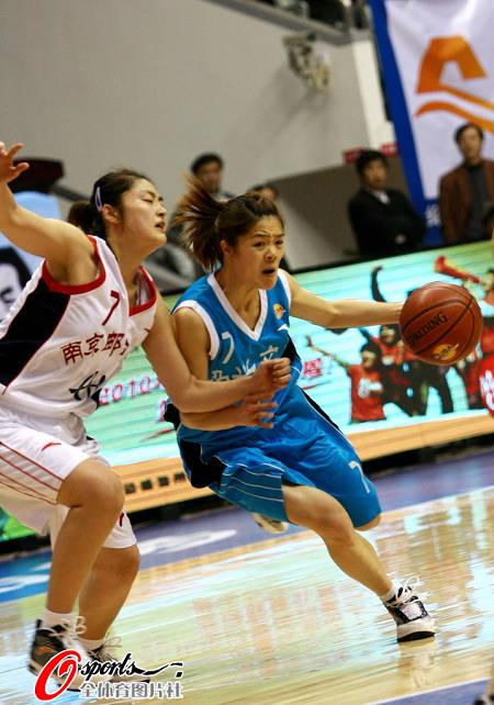 南京邮电大学女篮72:60胜绍兴文理学院女篮. (吕布/Osports全体育图片