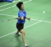 图文:羽球亚锦赛正赛次日战况 刘鑫在比赛中