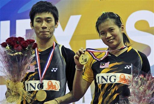 图文:羽毛球亚锦赛决赛赛况 大马组合混双夺冠