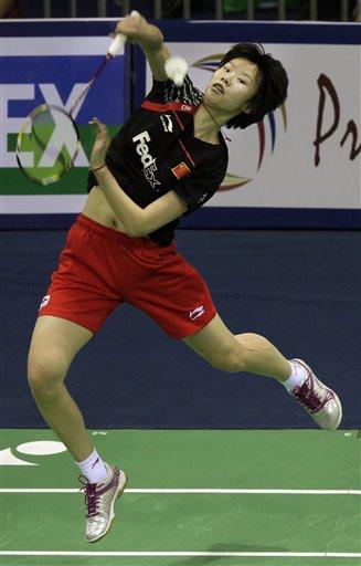 图文:羽毛球亚锦赛决赛赛况 李雪芮扣杀犀利