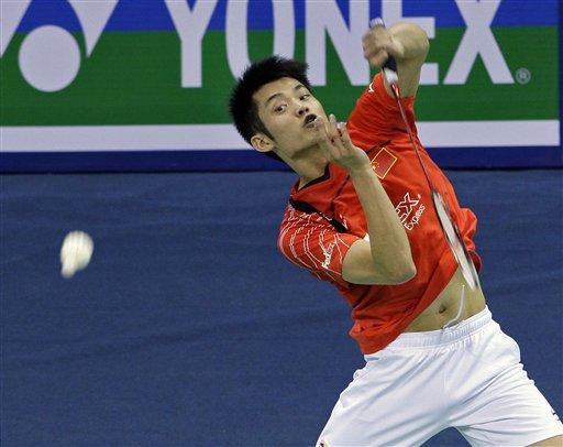 图文:羽毛球亚锦赛决赛赛况 林丹扣杀犀利
