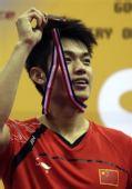 图文:羽毛球亚锦赛决赛赛况 林丹面带笑容