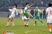 图文:[中超]北京1-0陕西 祝一帆破门瞬间