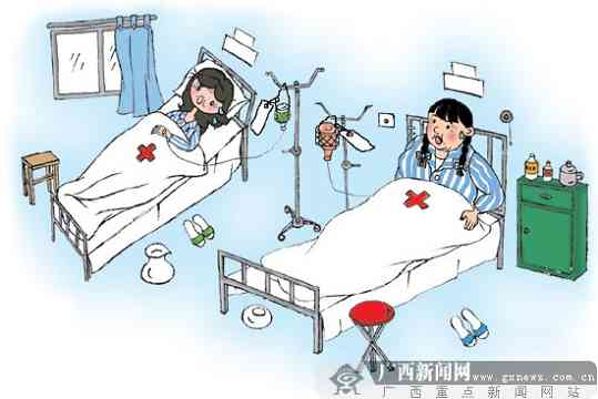 病人躺在病床上简笔画-护士给邻床病人换错药水 医院要为事故埋单