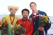 图文:系列赛墨西哥站次日 男子10米台前三名