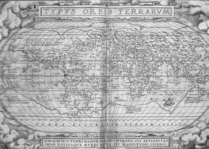 奥尔特留斯《寰宇全图》(1573,印刷书).