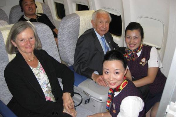 萨翁夫妇与空姐