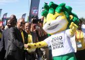 图文:南非举行世界杯倒计时50天庆祝活动(1)