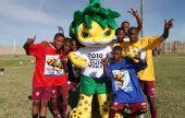 图文:南非举行世界杯倒计时50天庆祝活动(2)