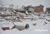 组图:玉树地震灾区遭遇风雪天气