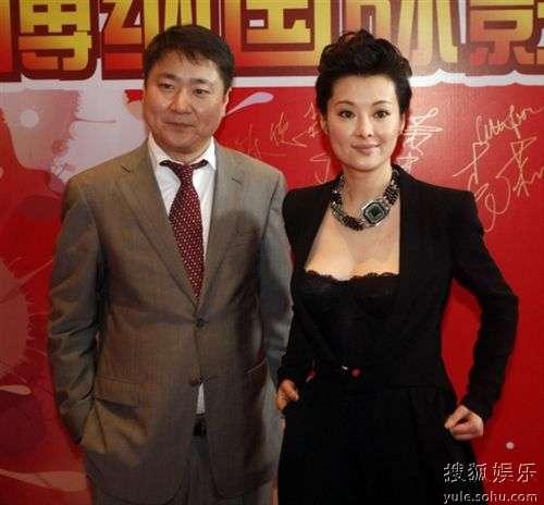 袁莉与于冬在深圳影城开业典礼