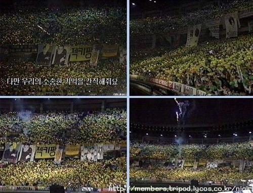梦想演唱会变成了黄色气球的海洋