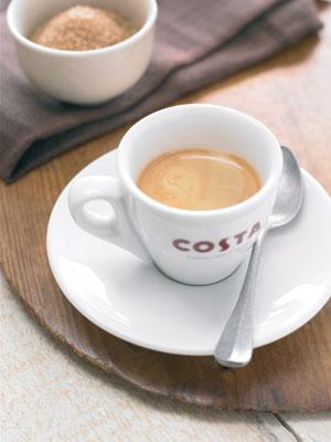 颜色均匀的咖啡豆特写