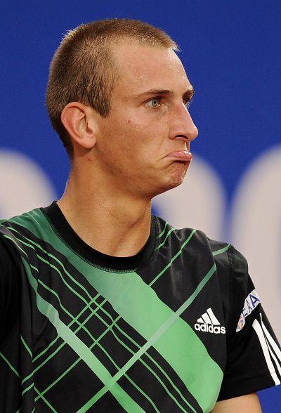 图文:巴塞罗那赛1/4决赛 巴克尔撇嘴表情