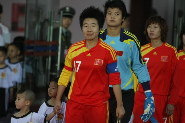 中国队出场