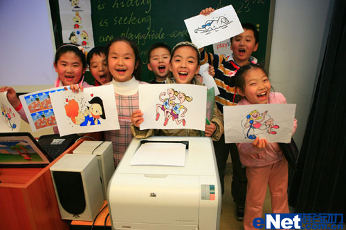 惠普彩色激光打印机走进北京第二实验小学