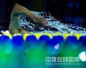 图文:全国游泳冠军赛第五日 选手挥臂瞬间