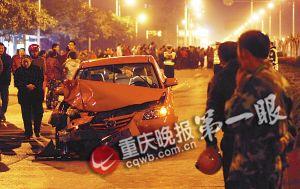 事故现场(资料图片)记者 杨帆 摄