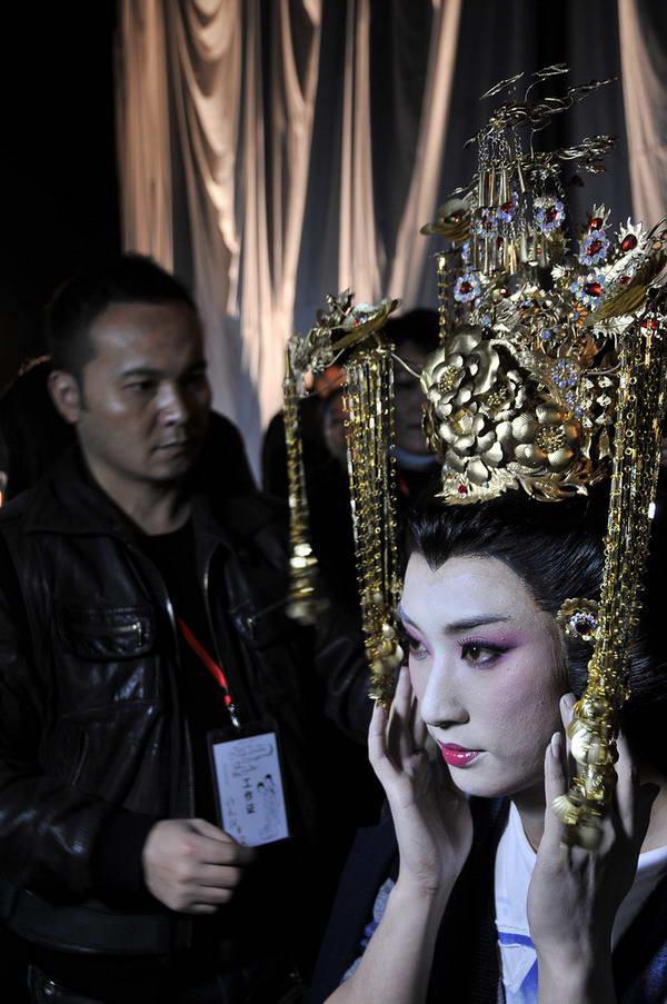 图:毛戈平与男旦版大娘刘欣然