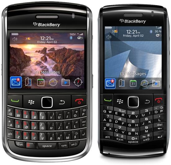 两款黑莓新机Bold 9650/Pearl 3G齐登场