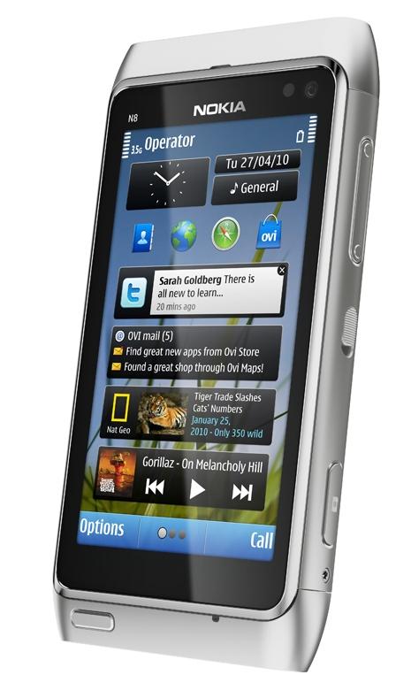 诺基亚发布1200万像素Symbian^3新机N8