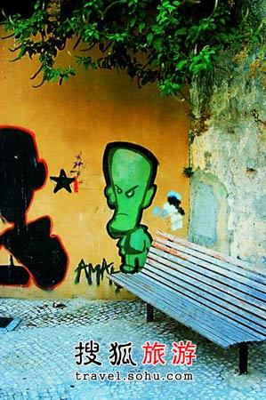 艺术气息浓郁的里斯本街头