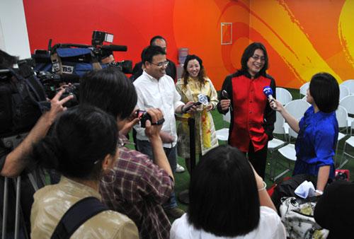 台湾电视台采访孔太现场