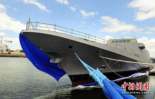 图为法国首艘多功能护卫舰。