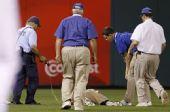 图文:职棒大联盟现惊人暴力 球迷晕倒在地