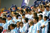 图文:[中超]天津1-1重庆 泰达球迷助威